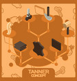 tanner color concept isometric icons vector image vector image