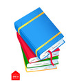 top view of books pile vector image