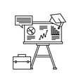 training concept flat icons vector image