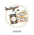 Vacation Time and Tourism Concept vector image vector image