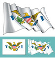 waving flag of us virgin islands vector image vector image