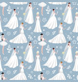 wedding bride girl character seamless pattern vector image vector image