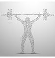 weightlifter poly gray vector image vector image