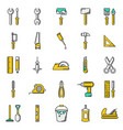 working tools icon set on white background vector image vector image