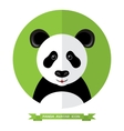 Flat Style Panda Bear Avatar Icon Design Element vector image