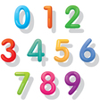 Numbers Set Balloon Style vector image