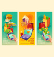set banners showing the ease and vector image