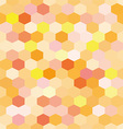 Abstract background orange hexagons vector image vector image