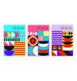 abstract bauhaus posters vector image vector image