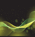 abstract flowing lines and bokeh lights design vector image vector image