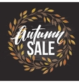Autumnal sale round frame written with chalk on vector image vector image