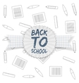 back to school tag on greeting ribbon vector image
