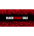 black friday sale red abstract promotion banner vector image vector image