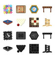 board game blackcartoon icons in set collection vector image vector image