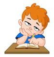 bored schoolboy vector image