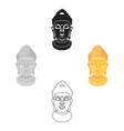 buddha icon in cartoonblack style isolated on vector image