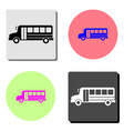 bus flat icon vector image