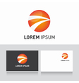 Business card template editable with logo sphere vector image
