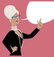 business woman and empty speech balloon cartoon vector image vector image
