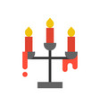 candle holder halloween related icon vector image vector image