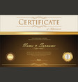 certificate or diploma retro design template 7 vector image vector image