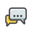 chat or dialogue icon cartoon vector image
