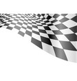 checkered flag wave white race championship vector image vector image