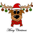 cheerful new years with a christmas deer vector image vector image