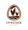 chicken egg livestock logo design template vector image