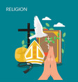 christianity religion flat style design vector image
