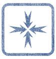 compression arrows fabric textured icon vector image vector image
