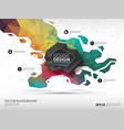 concept background with poligonal geometric shapes vector image