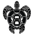 decorative turtle vector image vector image