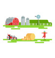 eco farm and agricultural elements set silo tower