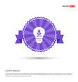 ecology bulb icon - purple ribbon banner vector image