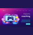 esports coaching concept landing page vector image vector image