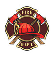 fire department emblem vector image vector image