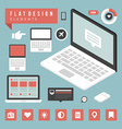 Flat devices and icons infographic design el vector image vector image