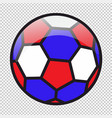 football ball colored in red-blue-white flag vector image vector image