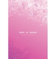 Glowing pink tree branches vertical background vector image
