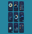 graphics set mobile infographics stock vector image vector image