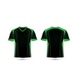 green and black layout e-sport t-shirt design vector image vector image