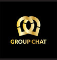 group chat image vector image