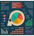 halloween infographic 1 vector image vector image