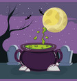 halloween scary cartoons vector image vector image