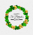 happy saint patricks day 17 march background vector image