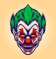 head angry joker clown vector image vector image
