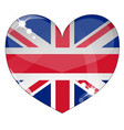 hear britain flag vector image