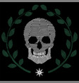 human skull embroidery vector image vector image