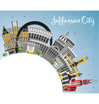 jefferson city missouri skyline with color vector image